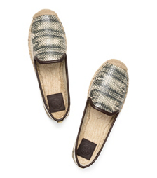 Tory Burch Snake Loafer Espadrille