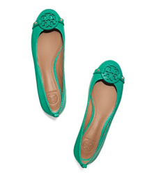 Pond Green Tory Burch Mini Miller Flat