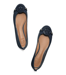 Tory Navy Tory Burch Mini Miller Flat
