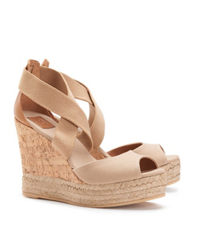 Tory Burch Peep-toe Cork Wedge Sandal