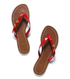 Masai Red Tory Burch Monogram Flat Thong Sandal