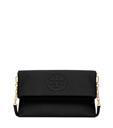 Black Tory Burch Bomb 233 Fold Over Clutch