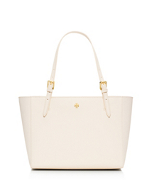 New Ivory Tory Burch York Small Buckle Tote