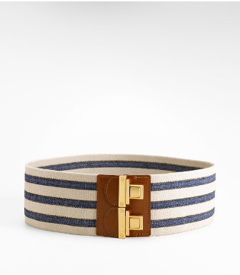 Tory Burch Espadrille Stripe Belt