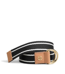 STRIPED WEBBING BELT