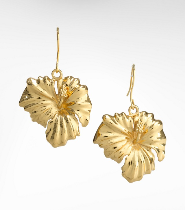 HIBISCUS DROP EARRING
