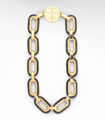 Black Tory Burch Heidi Link Necklace