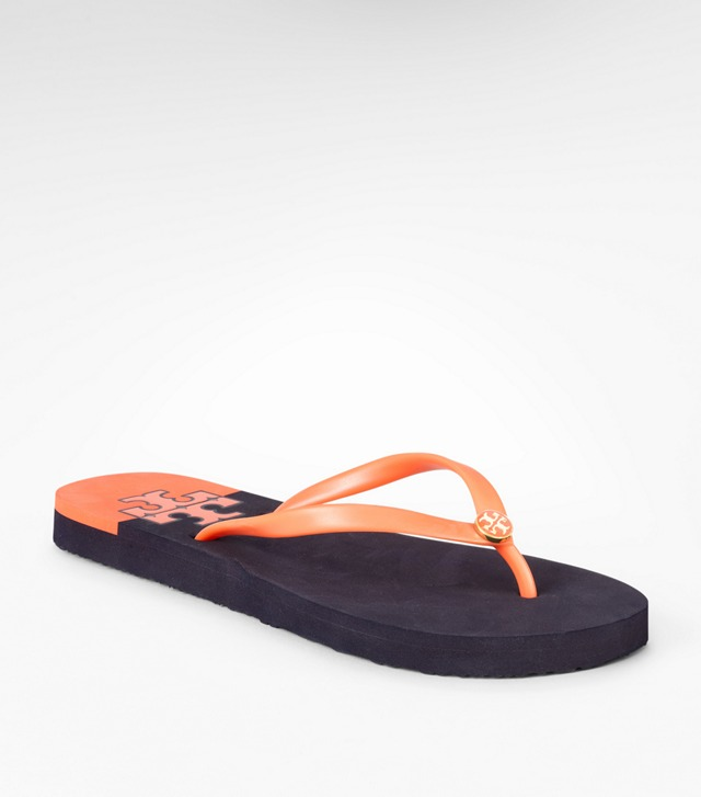Stacked logo flip flop