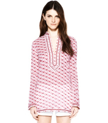 Mermaid Blush Small Flamingo  Tory Burch Tory Tunic