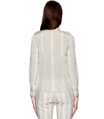 Dark White Quartz Pomera  Tory Burch Silk Brigitte Blouse