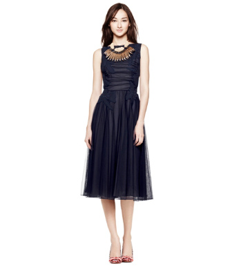 Med Navy Tory Burch Codie Dress