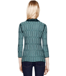 Med Navy Textured Plaid (g) Tory Burch Arielle Sweatshirt
