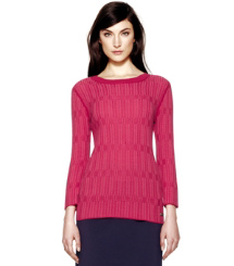 Gooseberry Textured Plaid (f) Tory Burch Arielle Sweatshirt