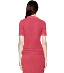 Gooseberry / Rose Petal Tory Burch Brielle Sweater Polo