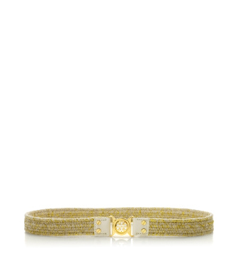 Tory Burch Mini Interlocking Logo Stretch Belt