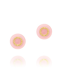 Pink Shell/shiny Gold Tory Burch Burch Stud Earring