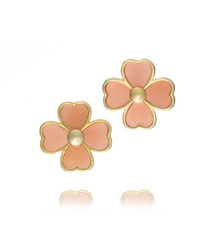 Pink Shell Tory Burch Shawn Stud Earring