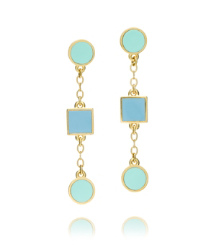 Light Chambray/mint Tory Burch Clemens Drop Earring