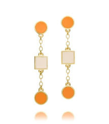 Pink Shell/orange Peel Tory Burch Clemens Drop Earring