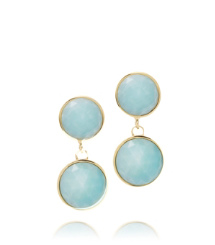 Amazonite/light Gold (green) Tory Burch Porter Post Earring