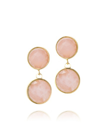 Rose Quartz/light Gold Tory Burch Porter Post Earring