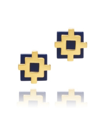 Tory Burch Carson Perforated Stud Earring