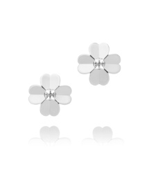 Tory Silver Tory Burch Shawn Metal Stud Earring