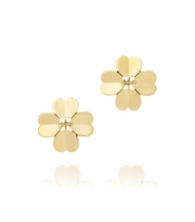 Gold Tory Burch Shawn Metal Stud Earring
