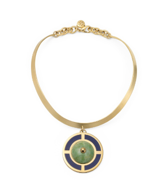 Tory Burch Lilian Pendant Collar Necklace