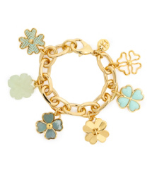 Mint/stream Tory Burch Shawn Charm Bracelet