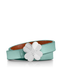 Mint/silver Tory Burch Reversible Shawn Bracelet