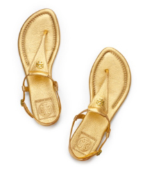 Tory Burch Britton Metallic Thong Sandal
