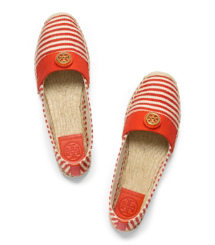 Natural/flame Red/flame Red/natural Tory Burch Beacher Espadrille