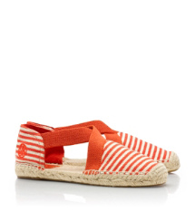 Natural/flame Red/flame Red/natural Tory Burch Catalina Espadrille
