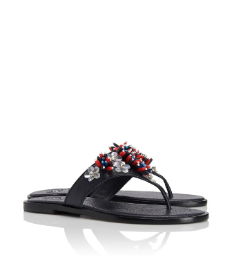 Tory Burch Lucy Beaded Thong Sandal