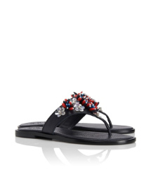 Lucy Beaded Thong Sandal