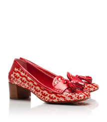 Red-tan Multi/tory Red/tory Red Tory Burch Careen Pumps Im Loafer-stil Mit Mittelhohem Absatz