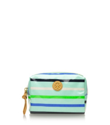 Mint Multi (classic Stripe F) Tory Burch Brigitte Cosmetic Case