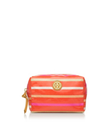 Poppy Red Multi (classic Stripe E) Tory Burch Brigitte Cosmetic Case