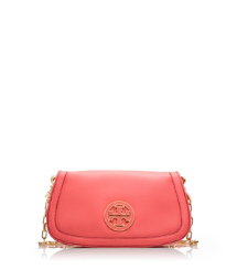 Strawberry Tory Burch Amanda Logo Clutch