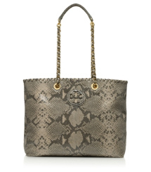 Tory Burch Snake Printed Marion Tote