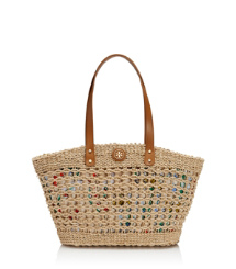 Small Twisted Straw Megan Tote