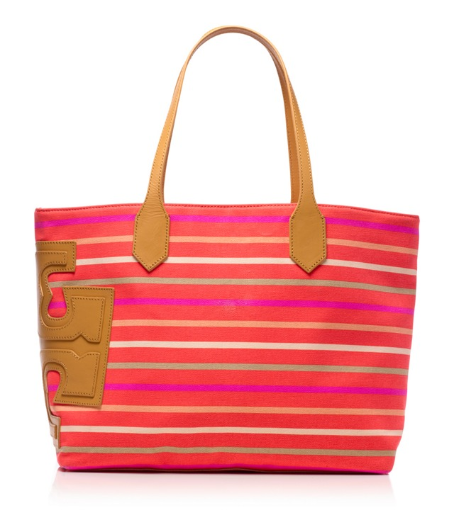 "Stacked ""T"" Stripe Tote"