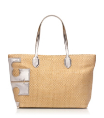 "Metallic Stacked ""T"" Tote"