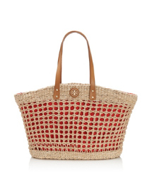 Twisted Straw Solid Megan Tote