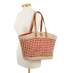 Tory Burch Twisted Straw Solid Megan Tote