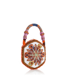 Tory Burch Seed Bead Mini Circle Bag