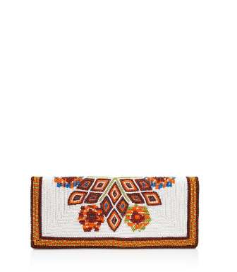 Tory Burch Beaded Foldover Mini Clutch