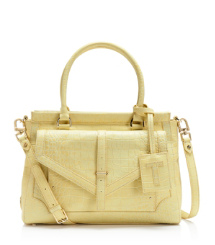 Croc Embossed 797 Large Top Zip Satchel