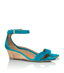 Aquarius Tory Burch Savannah Suede Wedge Sandal